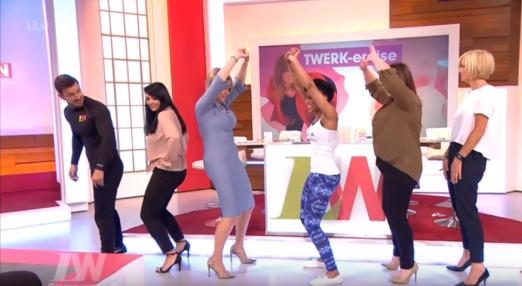 Loose Women ITV Twerking Lanaiya Lithe